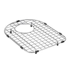 "Moen Stainless D Shape Rear Drain Bottom Grid Accessory fits 13"" x 16.5"" Sink Bowls"