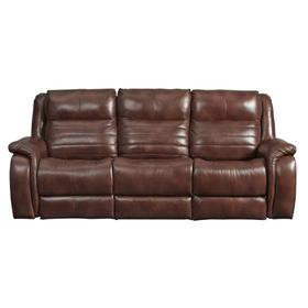 Double Reclining Power Headrest Loveseat with Console