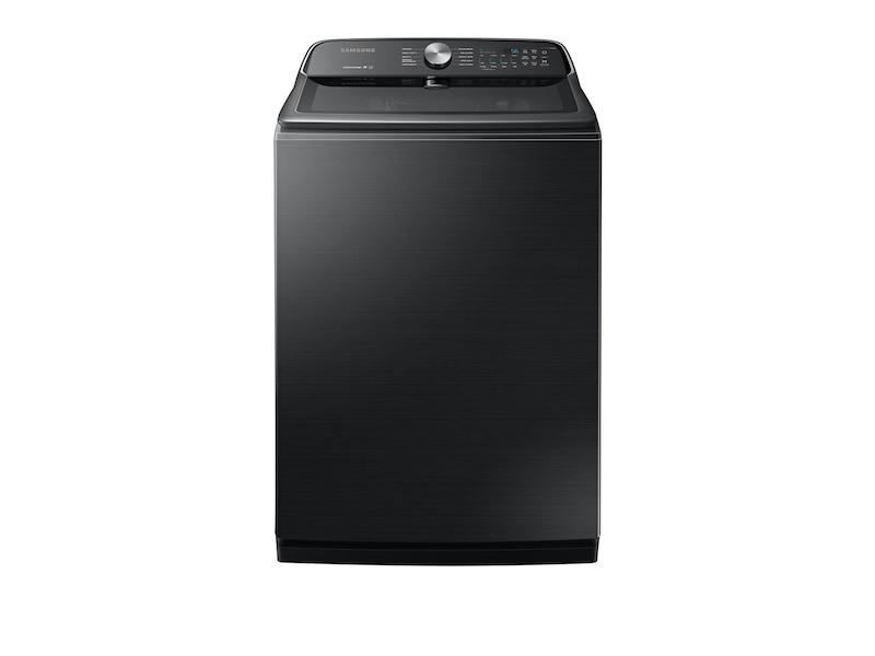 SamsungWa7200 5.4 Cu. Ft. Top Load Washer With Active Waterjet In Black Stainless Steel