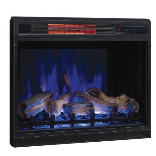 "28"" 3D Infrared Quartz Electric Fireplace Insert with Safer Plug® and Safer Sensor"