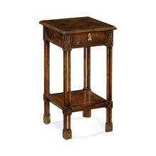 View Product - Dark crotch walnut square lamp table