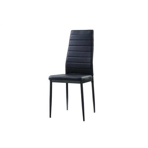 Side Chair, Black Bi-Cast Vinyl