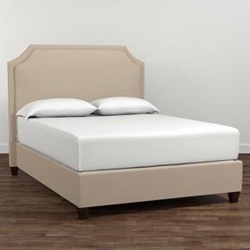 Custom Uph Beds Barcelona King Bonnet Bed, Storage 2 Drawers, Insert Type Tufted
