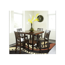 Crescent City Counter Height Dining - Table and 4 Stools