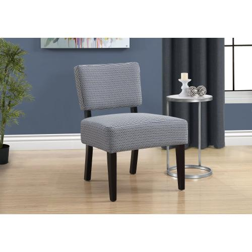 Gallery - ACCENT CHAIR - LIGHT / DARK BLUE ABSTRACT DOT FABRIC