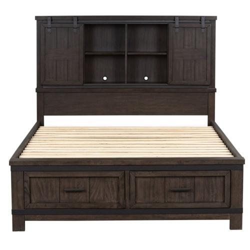 Queen Bookcase Bed, Dresser & Mirror, Chest, NS
