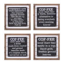 TY Coffee Talk Wall Decor - Ast 4