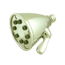 Showerhaus Round Showerhead with 8 Spray Jets - Solid Brass Construction with Adjustable Ball Joint - Polished Brass