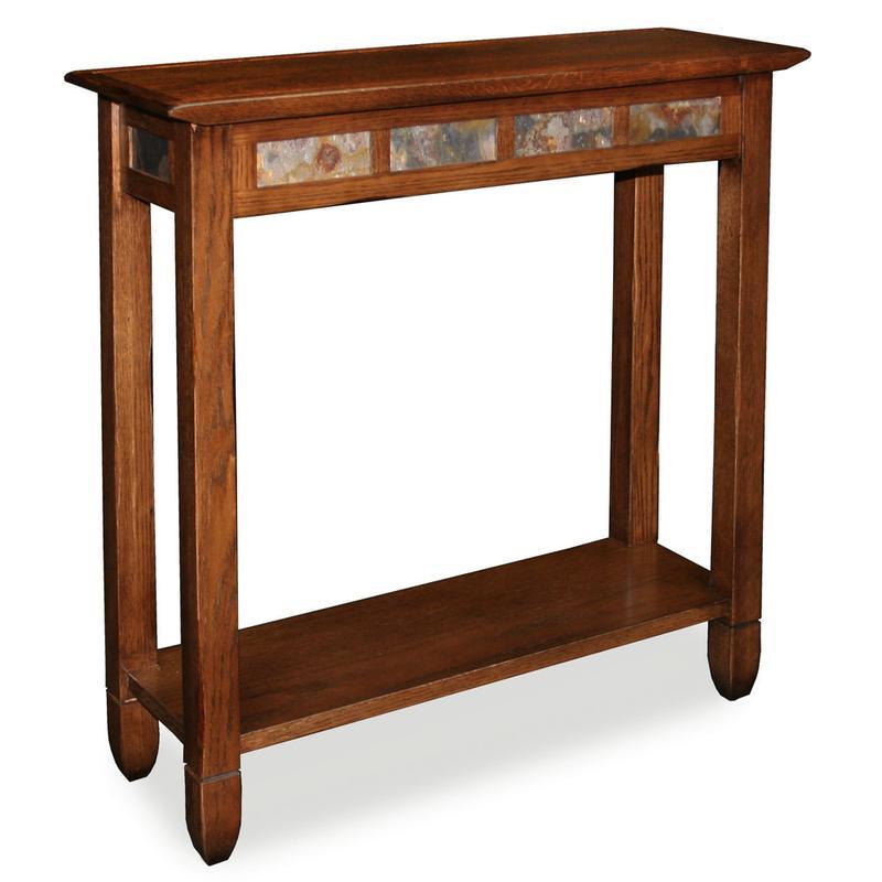 See Details - Rustic Oak Slate Hall Stand #10059