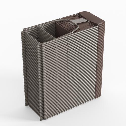 Flash Furniture - Hercules™ Series Plastic Folding Chair - Brown - 650LB Weight Capacity Comfortable Event Chair - Lightweight Folding Chair -