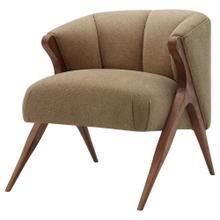 Florence Fabric Accent Chair Brown Legs, Havana Cream