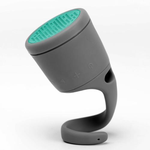 Waterproof Bluetooth Speaker in Dark Gray / Mint