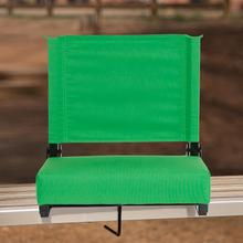 See Details - Grandstand Comfort Seats by Flash - 500 lb. Rated Lightweight Stadium Chair with Handle & Ultra-Padded Seat, Bright Green