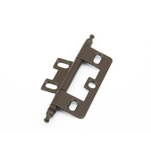 Solid Brass, Hinge, Minaret Tip Non-Mortise, Oil Rubbed Bronze finish