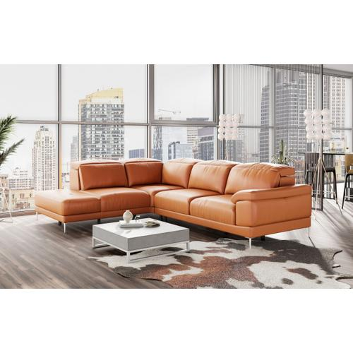 Accenti Italiani New York - Modern Cognac Leather LAF Sectional Sofa
