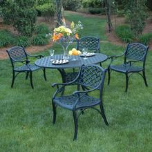 """See Details - Newport Dining Sets in Black (Size: 2 Chairs with 30"""" Pedestal Newport Table)"""