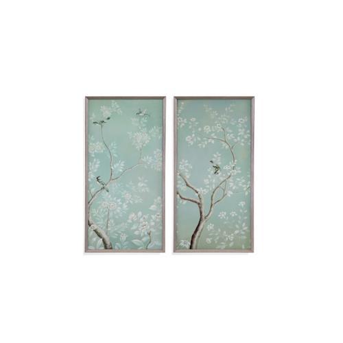 Bassett Mirror Company - 2 PC Birds & Flowers