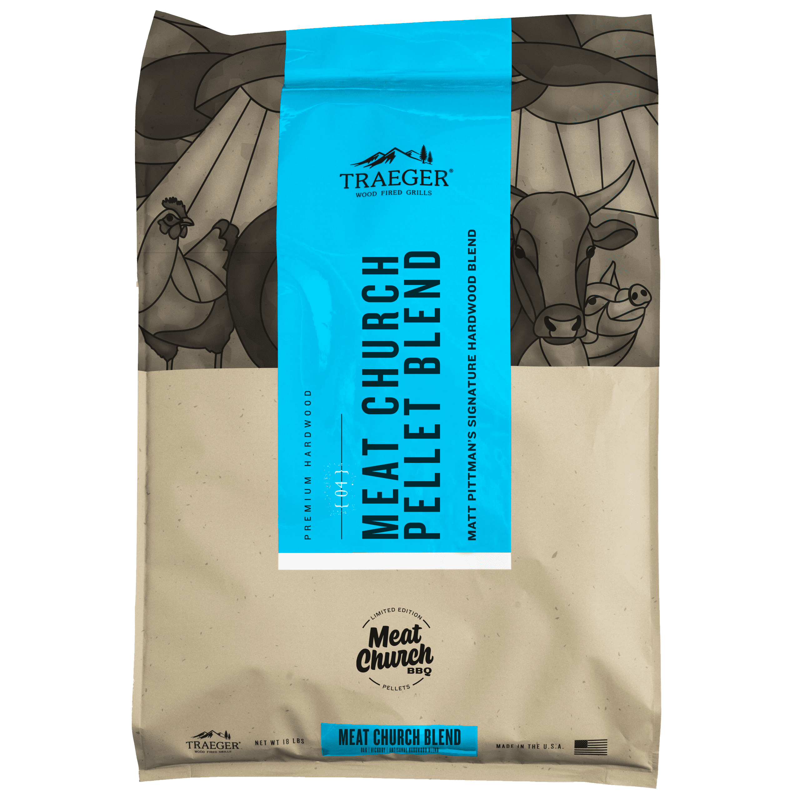 Traeger Limited Edition Meat Church Blend Wood Pellets