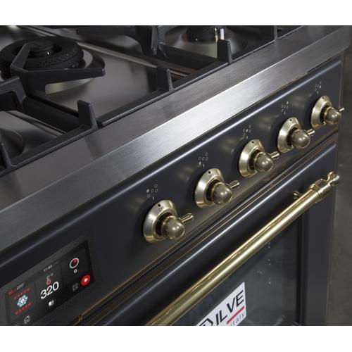 30 Inch Matte Graphite Dual Fuel Liquid Propane Freestanding Range