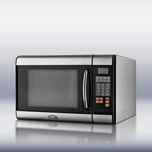 Product Image - Stainless steel microwave oven with digital touch controls