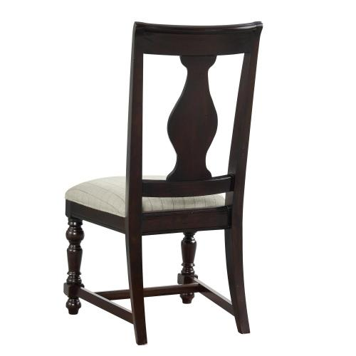 Rosemoor - Upholstered Splat Back Side Chair - Burnt Caramel Finish