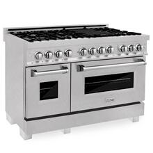 """Product Image - ZLINE 48"""" Snow Stainless Steel 6.0 cu.ft. 7 Gas Burner/Electric Oven Range (RAS-48)"""