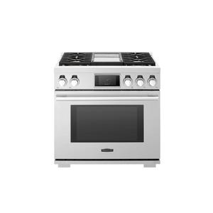 Signature Kitchen Suite36-inch Gas Pro Range with 4 Burners and Griddle