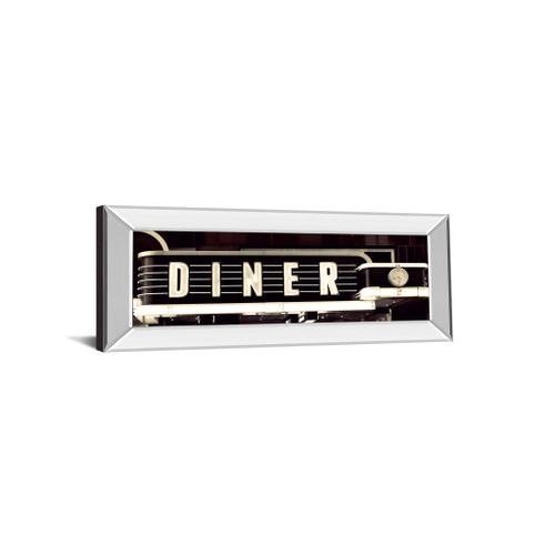 """""""Diner"""" By Susan Bryant Mirror Framed Photo Print Wall Art"""