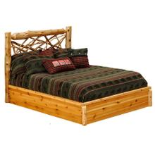 Twig Platform Bed - Double - Natural Cedar