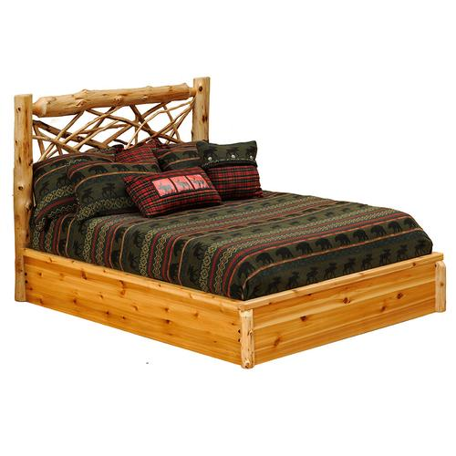 Twig Platform Bed - Double - Vintage Cedar