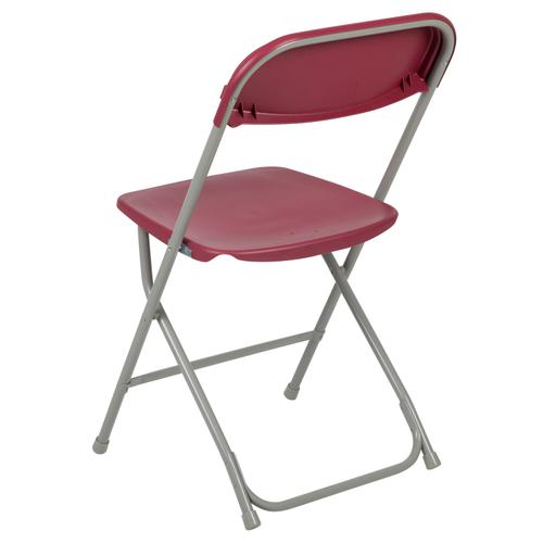 Flash Furniture - Hercules™ Series Plastic Folding Chair - Red - 650LB Weight Capacity Comfortable Event Chair - Lightweight Folding Chair -