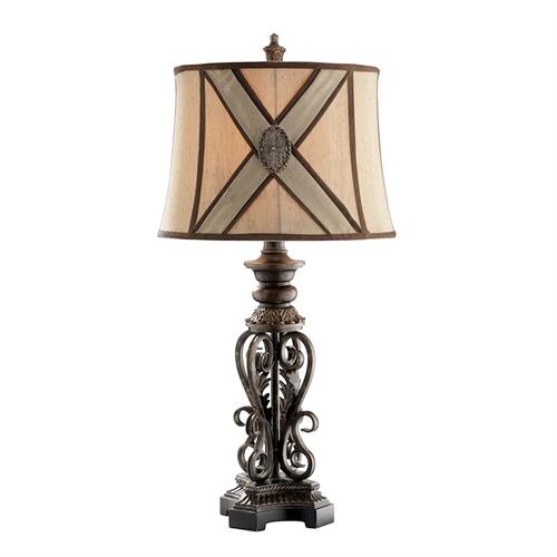 Stein World - Chastain Table Lamp In Bronze With Wheat Shade