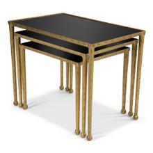 Trio Of Gilt Metal Nesting Tables