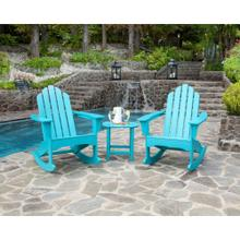Hanover 3-Piece All-Weather Rocking Adirondack Patio Set - Aruba, ADROCKER3PCAR