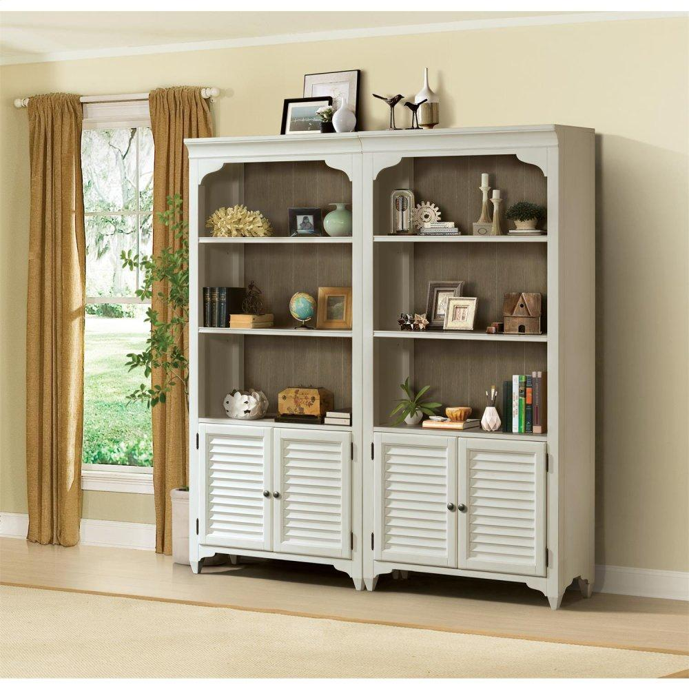 See Details - Myra - Bunching Bookcase - Natural/paperwhite Finish