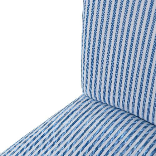 Milton Fabric Bar Stool NWO Legs, Blue Stripes