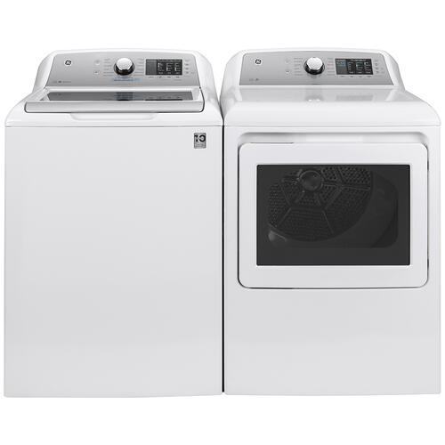 GE Appliances Canada - GE® 7.4 Cu. Ft. Capacity Gas Dryer with Sanitize Cycle White - GTD72GBMNWS