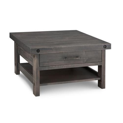 Handstone - Rafters Coffee Table w/ 1 Drawer w/Shelf