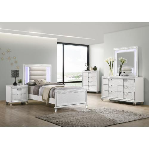 Twenty Nine Youth Twin Bed in White
