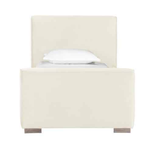Madison Cream Velvet Bed in Twin
