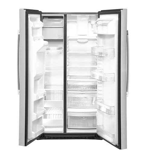 GE 21.8 Cu. Ft. Counter-Depth Side-By-Side Refrigerator Stainless Steel - GZS22IYNFS