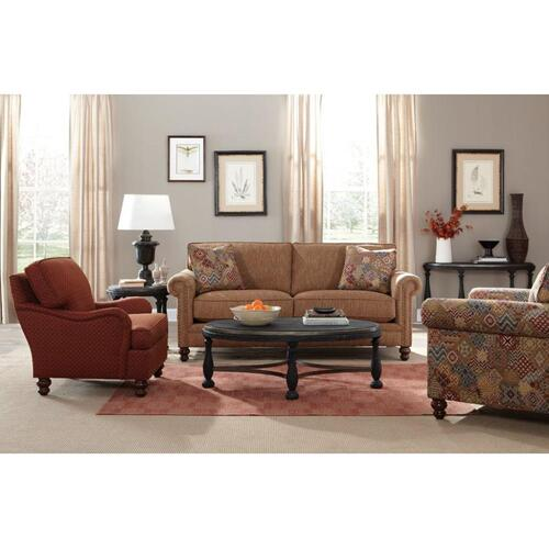 Craftmaster Furniture - Craftmaster Living Room Stationary Sofas, Two Cushion Sofas