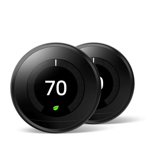 Nest Learning Thermostat 3rd Gen Black 2 Pack
