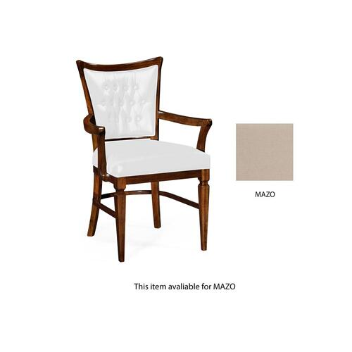 Dining armchair in Mazo Fabric