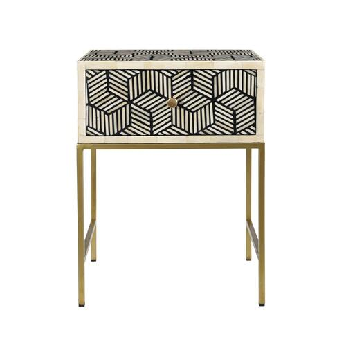 Tov Furniture - Bone Inlay Side Table