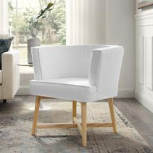 Anders Upholstered Fabric Accent Chair in White