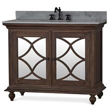 Hamilton Single Vanity with sink and marble top