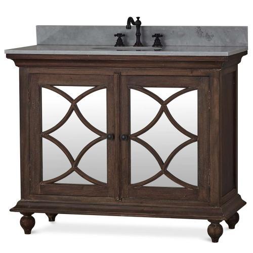 Bramble - Hamilton Single Vanity w/ Sink & Marble Top