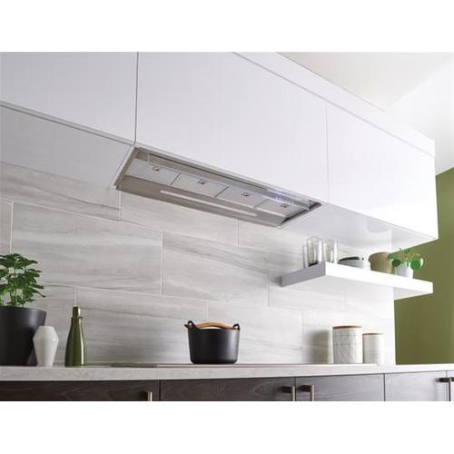 Product Image - CC45 Built-in 34-Inch Brushed Stainless Steel Chimney Hood with External Blower Options