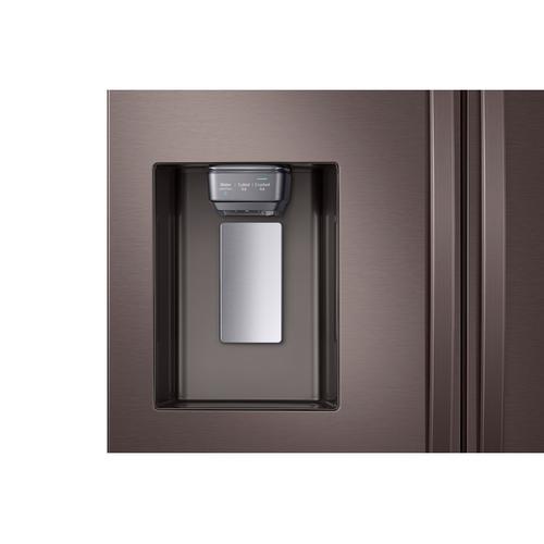 Samsung - 23 cu. ft. Counter Depth 4-Door French Door Refrigerator with FlexZone™ Drawer in Tuscan Stainless Steel